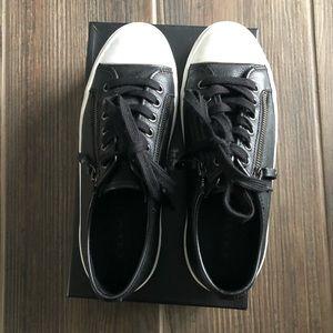 Coach Empire Zipper Black Leather Sneaker